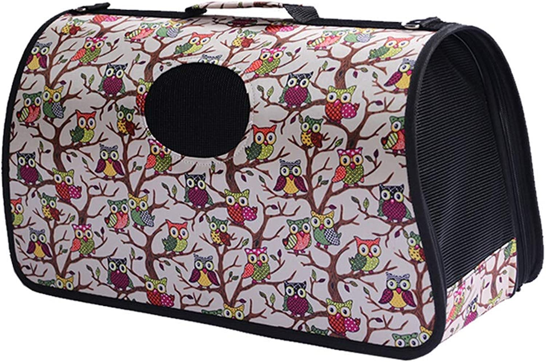 DR  Pet Bag  Cat Bag Out Carrying Bag Pet Bag Travel Bag Teddy Bomei Portable Diagonal Bag Cat Folding Breathable Cage pet Bag Carrier (color   J, Size   53X22X28CM)