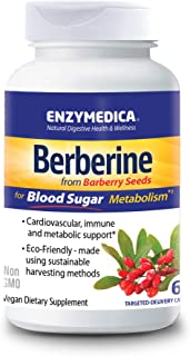 Enzymedica, Berberine, Supports Cardiovascular and Immune Health, Helps Maintain Healthy Blood Sugar Metabolism, 60 Capsules