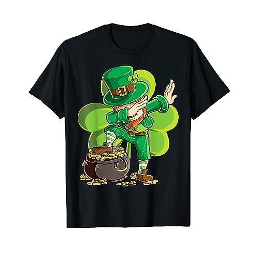 0a3f38d25 Dabbing Leprechaun Shirt St Patricks Day Kids Boys Women Men