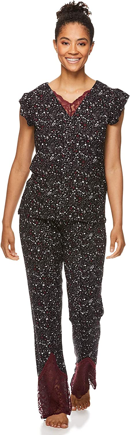 Nanette Ranking TOP8 Lepore Womens Pajamas Set with Max 84% OFF Shirt Pajam Lace Trim and