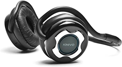 Kinivo BTH220 Bluetooth Headphones (Black, On-Ear, Wireless Music, Hands-Free Calling, Built-in Mic, Foldable, Memory Form Earpads, Travel Bag)