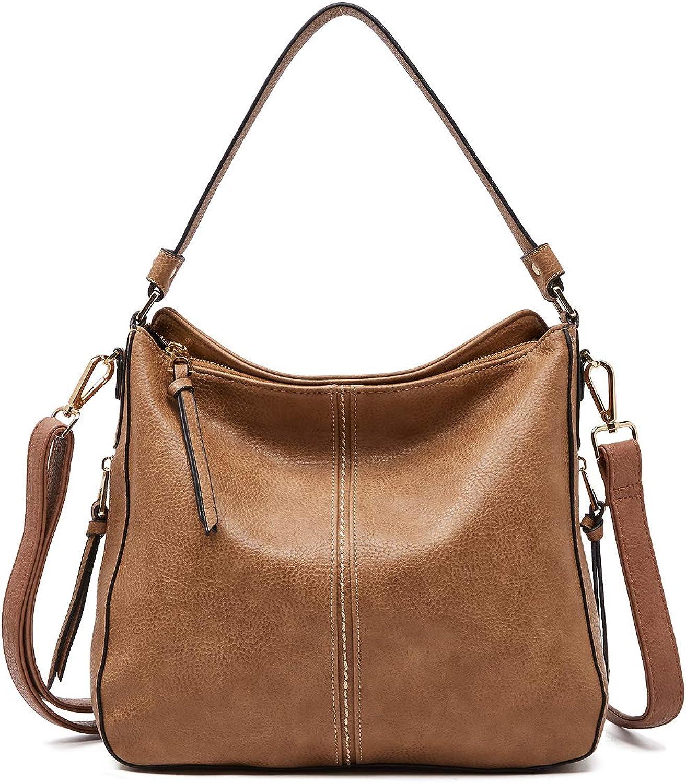 BOYATU Leather Shoulder Bags for Women Crossbody Purses Large Tote Handbag Hobo Bag