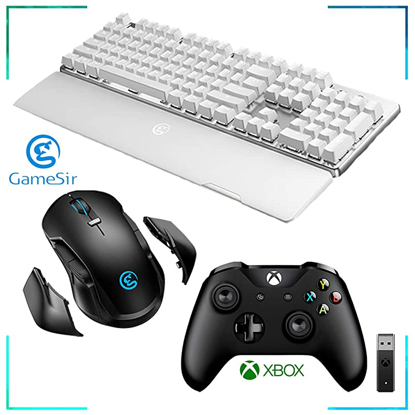 GameSir GK300 Wireless Mechanical Gaming Keyboard (White) + GameSir GM300 Wireless Gaming Mouse