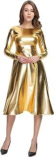 WOLF UNITARD Long Shiny Metallic Dresses for Women