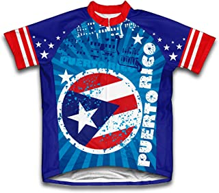 ScudoPro Puerto Rico Short Sleeve Cycling Jersey for Men