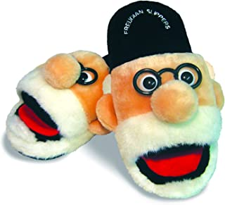 The Unemployed Philosophers Guild Freudian Slippers - Comfy Plush Slip - On Footwear - Size Small