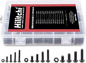 Hilitchi 510-Pcs M3 M4 M5 Alloy Steel Button Head Socket Cap Screws Hex Head Bolt Nuts Assortment Kit - 10.9 Grade Alloy Steel (Button Head)