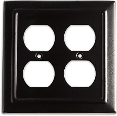 4 Leviton Black Unbreakable Toggle Switch Cover Wall Plates Switchplates 80701-E