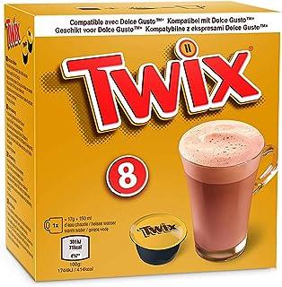Mars / Twix Boisson Chocolat Dolce Gusto - 8 capsules (Twix, 10 Boîtes: 80 capsules)