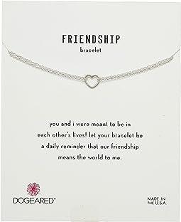 Dogeared - Friendship Bracelet, Small Open Heart Chain Bracelet