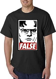 1154 - Unisex T-Shirt Dwight Schrute The Office USA False Statement 2XL Black