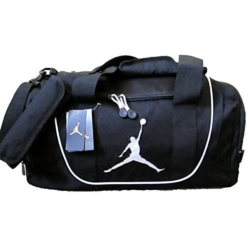 ef09b8e5d3f90f Nike Air Jordan Duffel Gym Bag in Black and White 9A1498-210