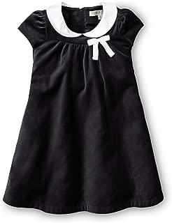 Girls' Short Sleeve Peter Pan Collar Empire Waist Dress