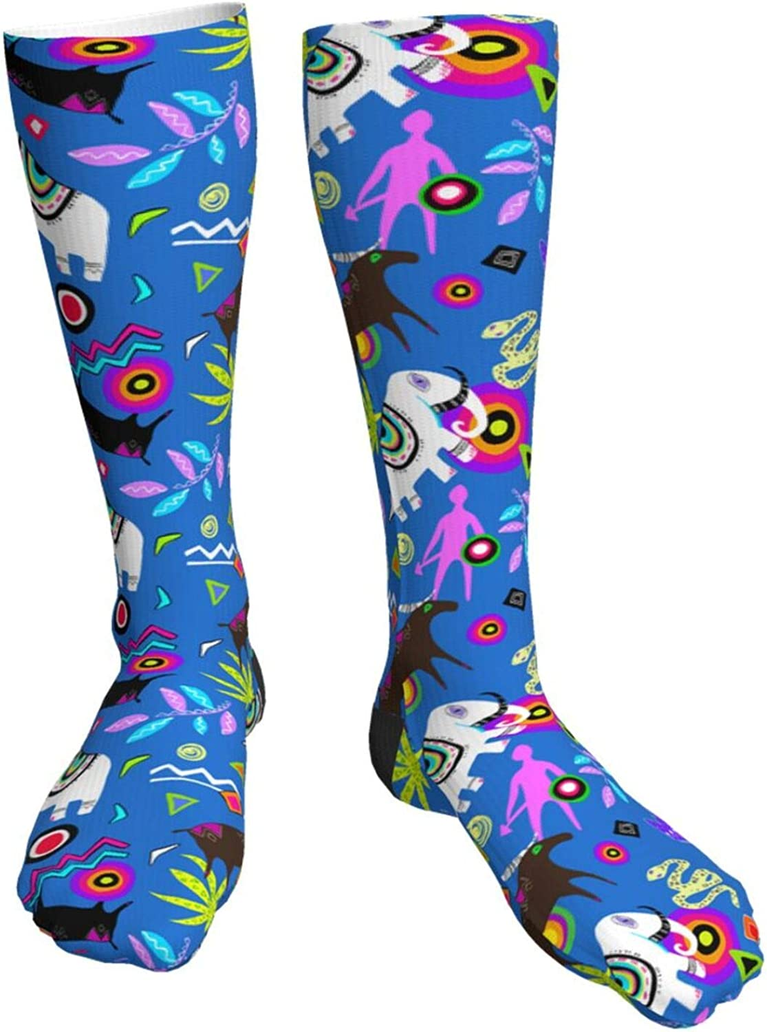 Max 54% OFF Abstract Geometric Novelty Crazy Dealing full price reduction Crew Socks Tube Knee High