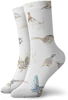 Juego Birds Cream Hombres Mujeres Calcetines cortos 30cm Calcetines clásicos de algodón para yoga Senderismo Ciclismo Correr Fútbol Deportes