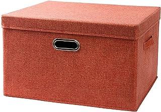 LXZFJW Cube De Rangement Tissu avec Couvercle Panier en Tissu pour Etagères Placard Décoration sous-Vêtements Petites Joue...