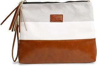 Wristlet Wallet Clutch Bag {Madi-Large} Phone Purse Handbag Gray White Herringbone Funky Monkey Fashion