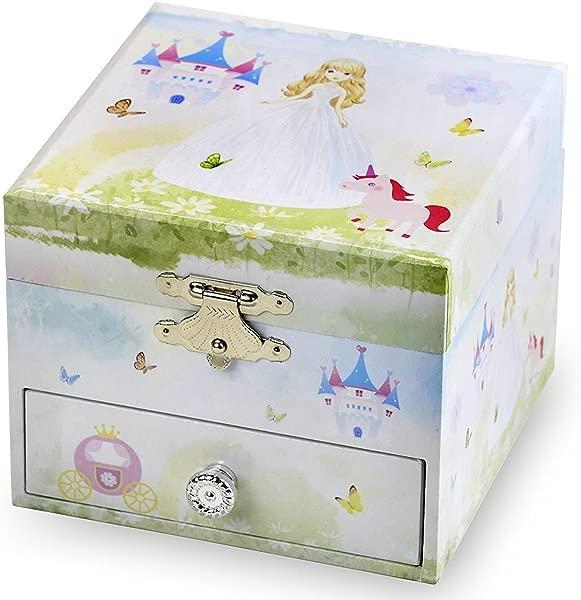 The San Francisco Music Box Company Princess Sweet Square Box