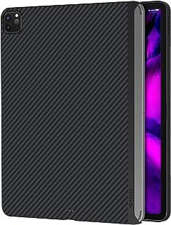 PITAKA iPad Pro 2020/2018 対応 ケース 11インチ MagEZ Case バックカバー 磁気吸着 Magic Keyboard 併用 超スリム 軽量 極薄 HUB 衝撃保護 アラミド繊維 カーボン風 黒/グレーツイル柄