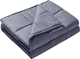 Alomidds Weighted Blanket 5 lbs  36''x48'' Heavy Blanket for Kids Calm Sleeping 100% Cotton Material with Nontoxic Glass Beads  Grey (5lbs-36''x48'')