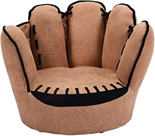 Costzon Kids Sofa Chair, Baseball Glove Shaped Fingers Style Toddler Armchair Living Room Seat, Children Furniture TV Chair