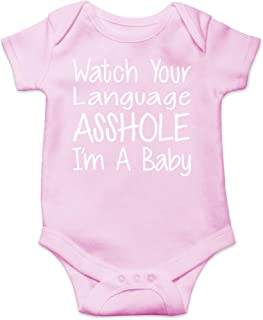 CBTwear Watch Your Language I`m A Baby Funny Romper Cute Novelty Infant One-Piece Baby Bodysuit