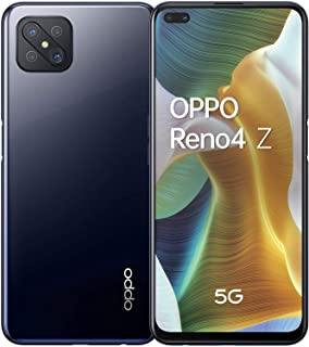 OPPO Reno4 Z 5G Dual-SIM 128GB ROM + 8GB RAM Factory Unlocked Android Smartphone (Ink Black) - International Version
