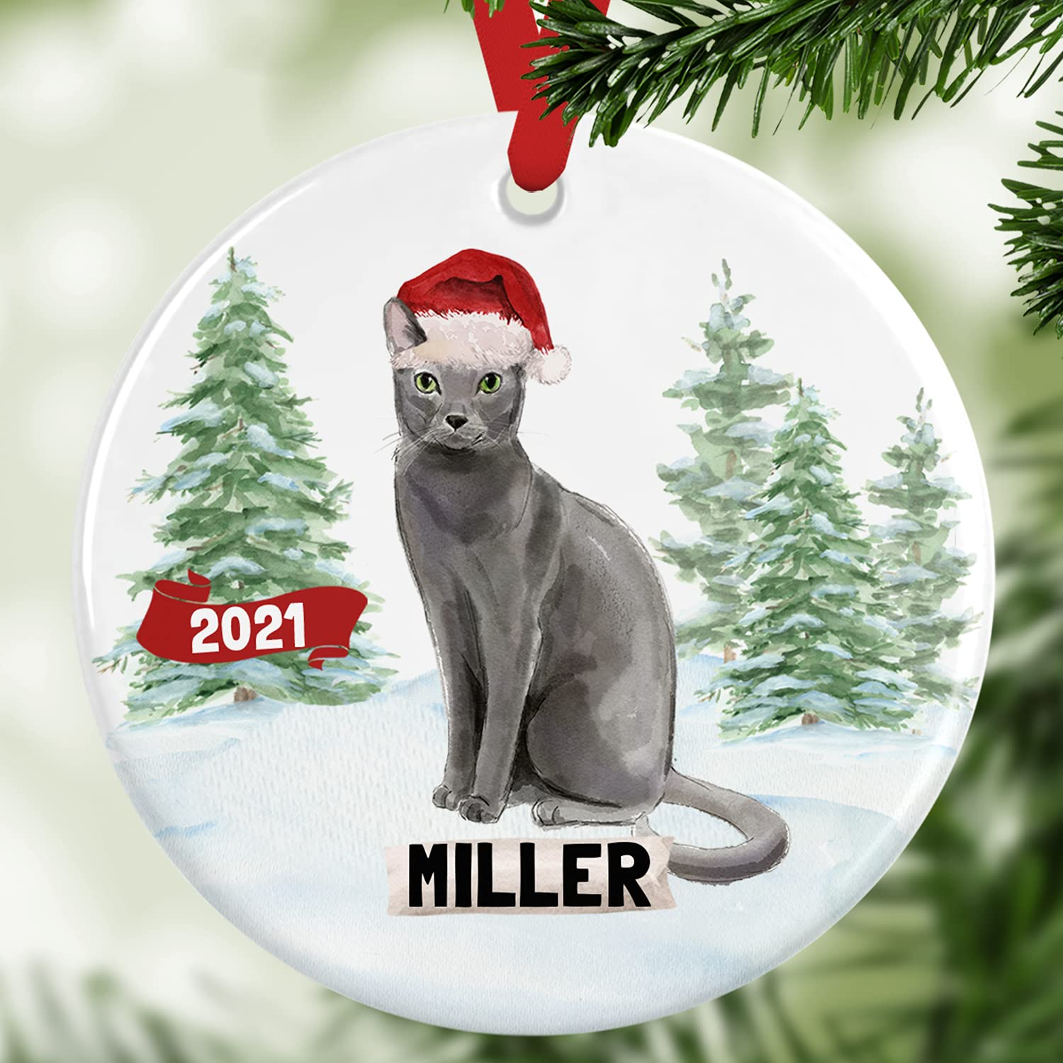 Gray Max 55% OFF Cat Christmas Tree Pet Ornament Max 41% OFF Personalized Cust