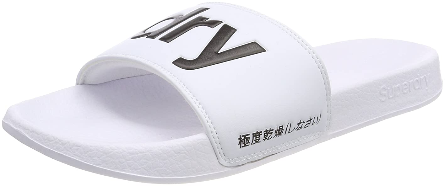Superdry Pool Slide Mens Sandals White jeuqjvrhxiz211