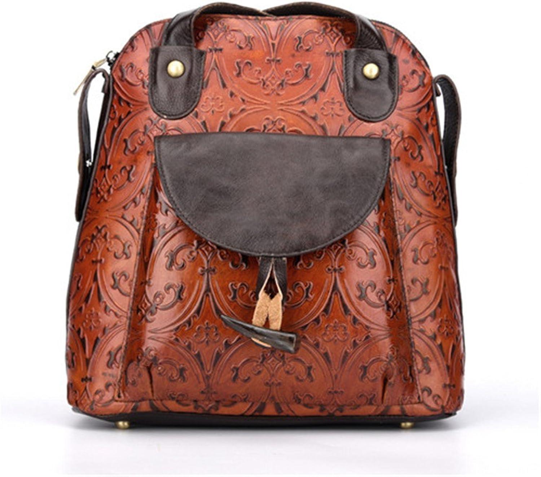 Women Genuine Leather Backpack Rucksack Ladies Casual Daypacks Shoulder Bag Purse School Satchel for College