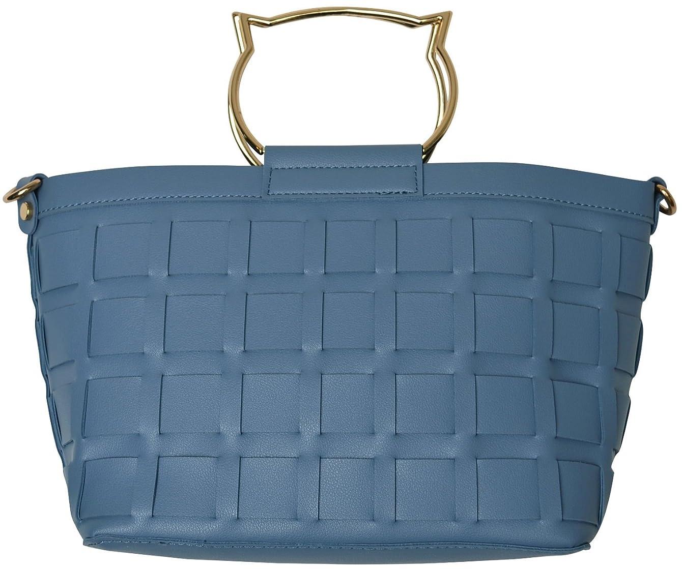 誘惑旋回ダニ(カービーズ) curvy's ハンドバッグ ハンド バッグ カバン 鞄 bag ねこちゃん 猫 ネコ ハンドル 合皮 フェイクレザー メッシュ