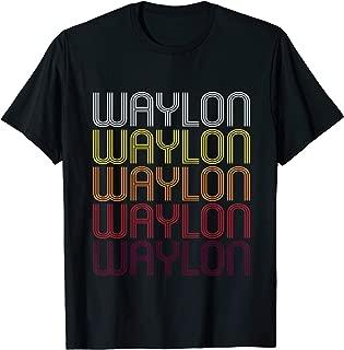 Waylon Retro Wordmark Pattern - Vintage Style T-shirt