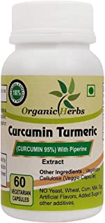 Organic Herbs High Potency Premium Immunity Support Joint & Healthy Inflammatory Support Standardized Curcuminoids. Non-GM...