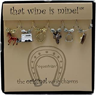 Wine Things WT-1476P Equestrian, Painted Wine Charms, Fits neatly around stem, Multi-Color