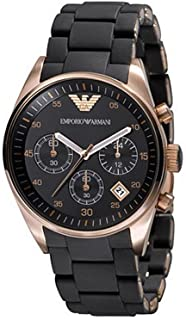 Emporio Armani Fashion Chronograph for Women - Analog Stainless Steel Band Watch - AR5906