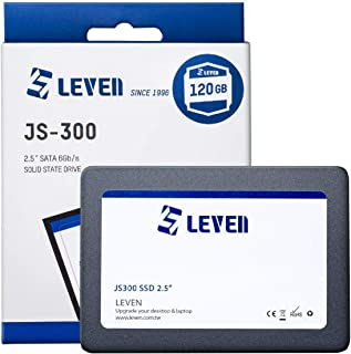 "LEVEN SSD 120GB 3D NAND TLC SATA III Internal Solid State Drive - 6 Gb/s, 2.5 inch /7mm (0.28"") - up to 550MB/s - Compatib..."