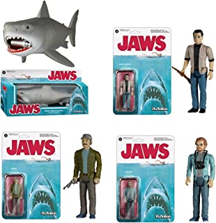 JAWS Funko Matt Hooper, Martin Brody, Quint and Great White Reaction Retro Action Figure