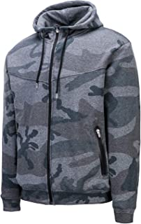 Asysst Mens Full Zipper Casual Winter Camo Outfitter Hoodies Sweatshirts with Pockets Fleece