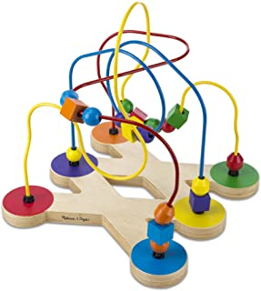 Melissa & Doug Classic Bead Maze (Wooden Educational Toy, Great Gift for Girls and Boys – Best for Babies and Toddlers, 12 Month Olds, 1 and 2 Year Olds)