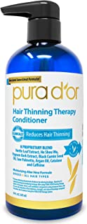 PURA D'OR Hair Thinning Therapy Conditioner - Strengthening, Clarifying & Moisturizing Cleanser - For Fuller Volume, Added...