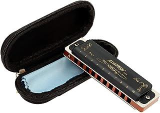 East top Harmonica diatonique en A 10 trous 20 tons T008K avec étui noir, harmonica blues pour Adultes débutant, étudiants...