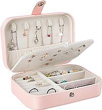 Gifort Caja Joyero Pequeña, Joyero de Viaje Cajas para Joyas Jewelry Organizer para Mujer, para Anillos, Aretes, Pendientes, Pulseras y Collares