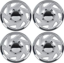 BDK KT-317-16-CS_AMZKING Silver 16 Hubcaps Wheel Covers (16 inch) – Four (4) Pieces Corrosion-Free & Sturdy – Full Heat & Impact Resistant Grade – OEM Replacement
