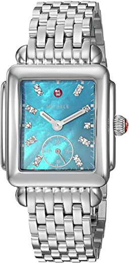 Michele - Deco Mid Blue Dial Stainless Steel Watch
