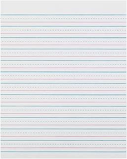 Pacon PACZP2413 Zaner-Bloser Sulphite Handwriting Paper, Dotted Midline, Grade 2, 1/2