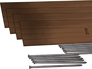 Dimex EasyFlex Aluminum Landscape Edging Project Kit, Will Not Rust Like Steel, Brown (1806BR-24C)