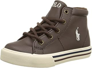 Polo Ralph Lauren Kids Scholar Mid Fashion Mid Top Sneaker (Toddler/Little Kid/Big Kid)