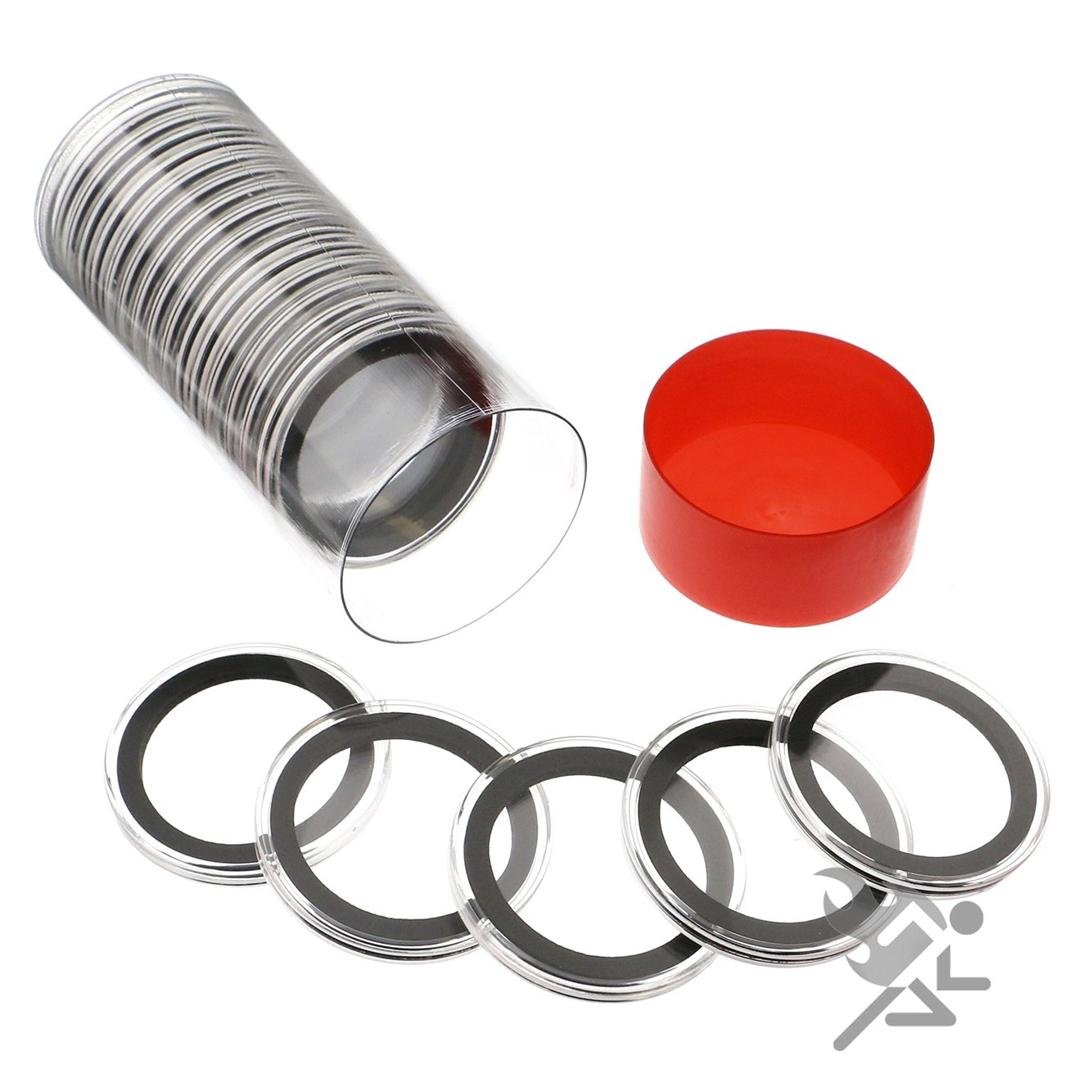 20//25//30//35//40//46mm SPLF 32 Pieces 46mm Coin Capsules and 6 Sizes Protect Gask