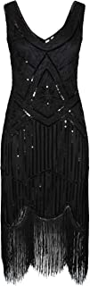 Great Gatsby 1920's Cocktail Party Sequin Tassel Flapper Dress