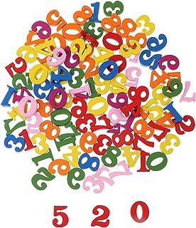 Baoblaze 約100個 ウッド 番号 子供 数字認識 数学学習 知育玩具